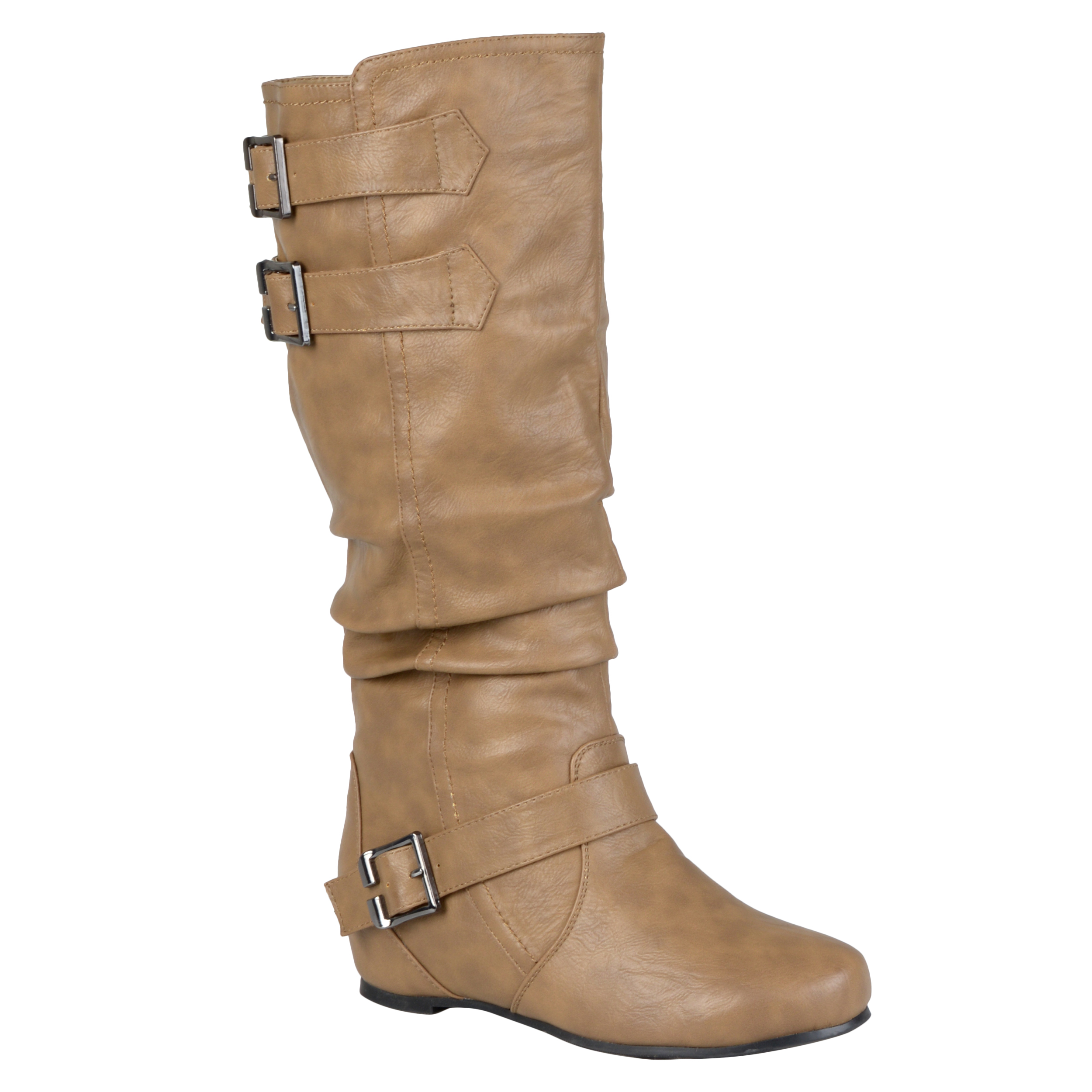 Brinley Co Womens Round Toe Buckle Detail Boots at Sears.com