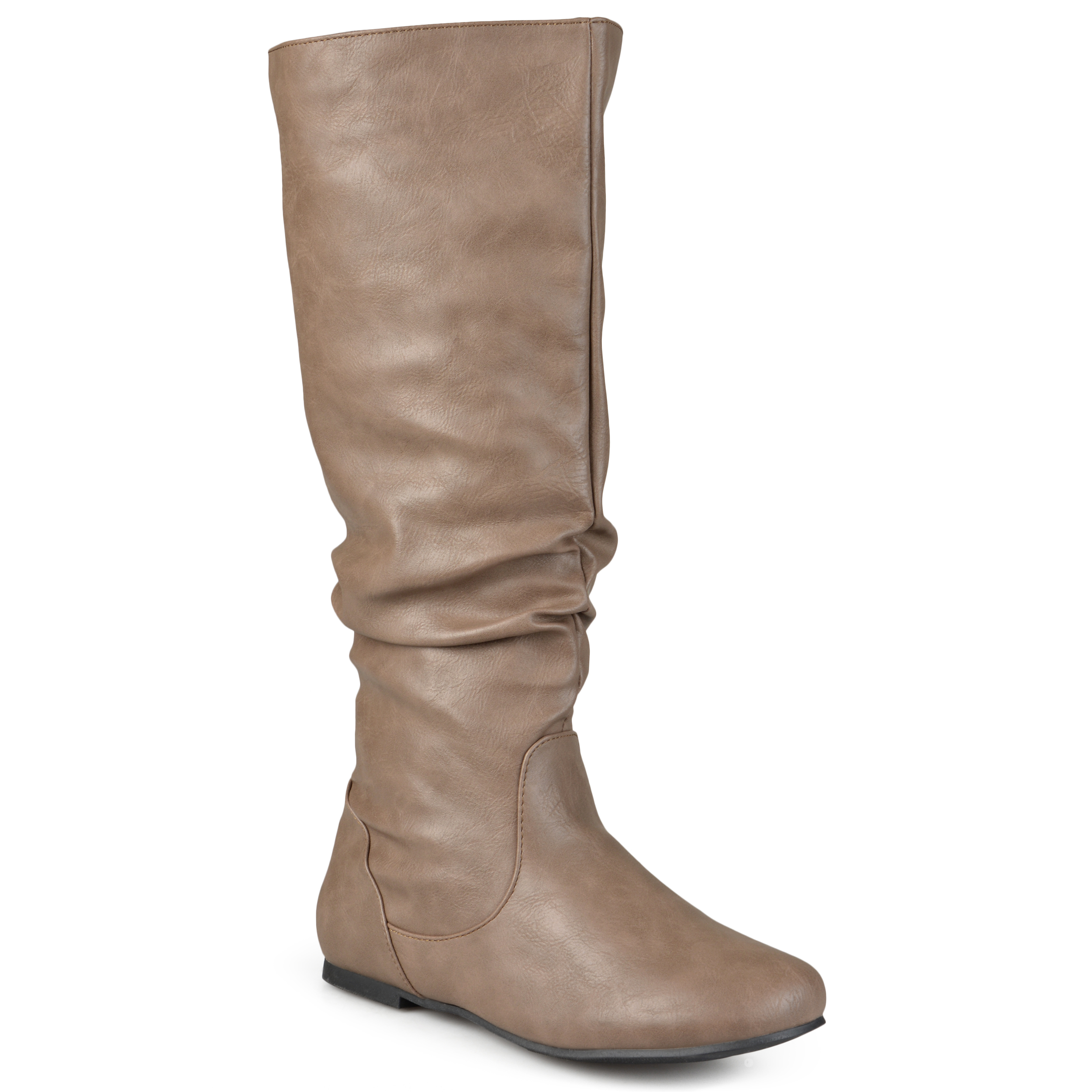 Journee Collection Womens Wide Calf Slouchy Round Toe Boots (PU REBECCA-02) at Sears.com