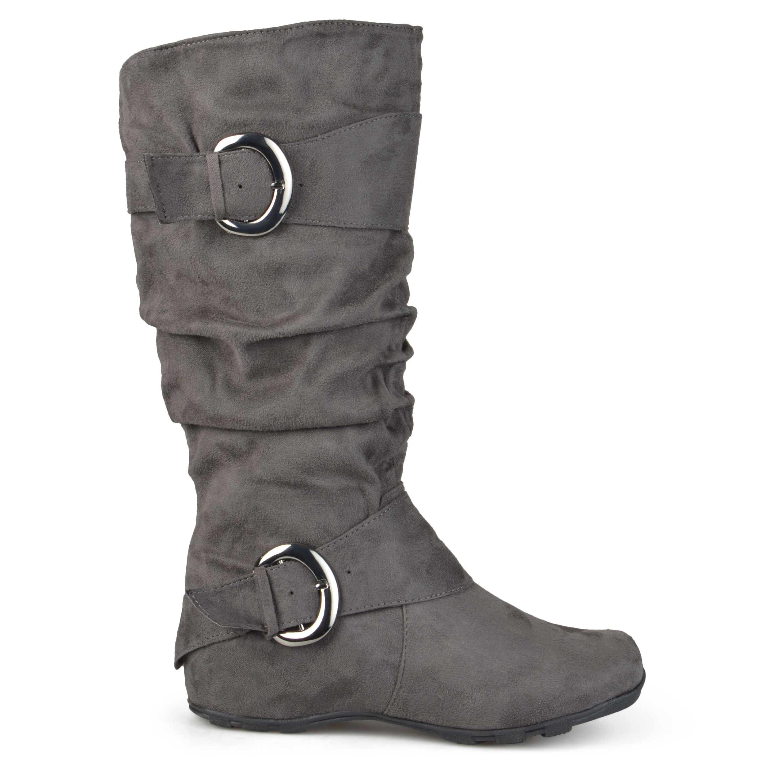 Journee Collection Womens Wide and Extra Wide-Calf Slouch Buckle ...