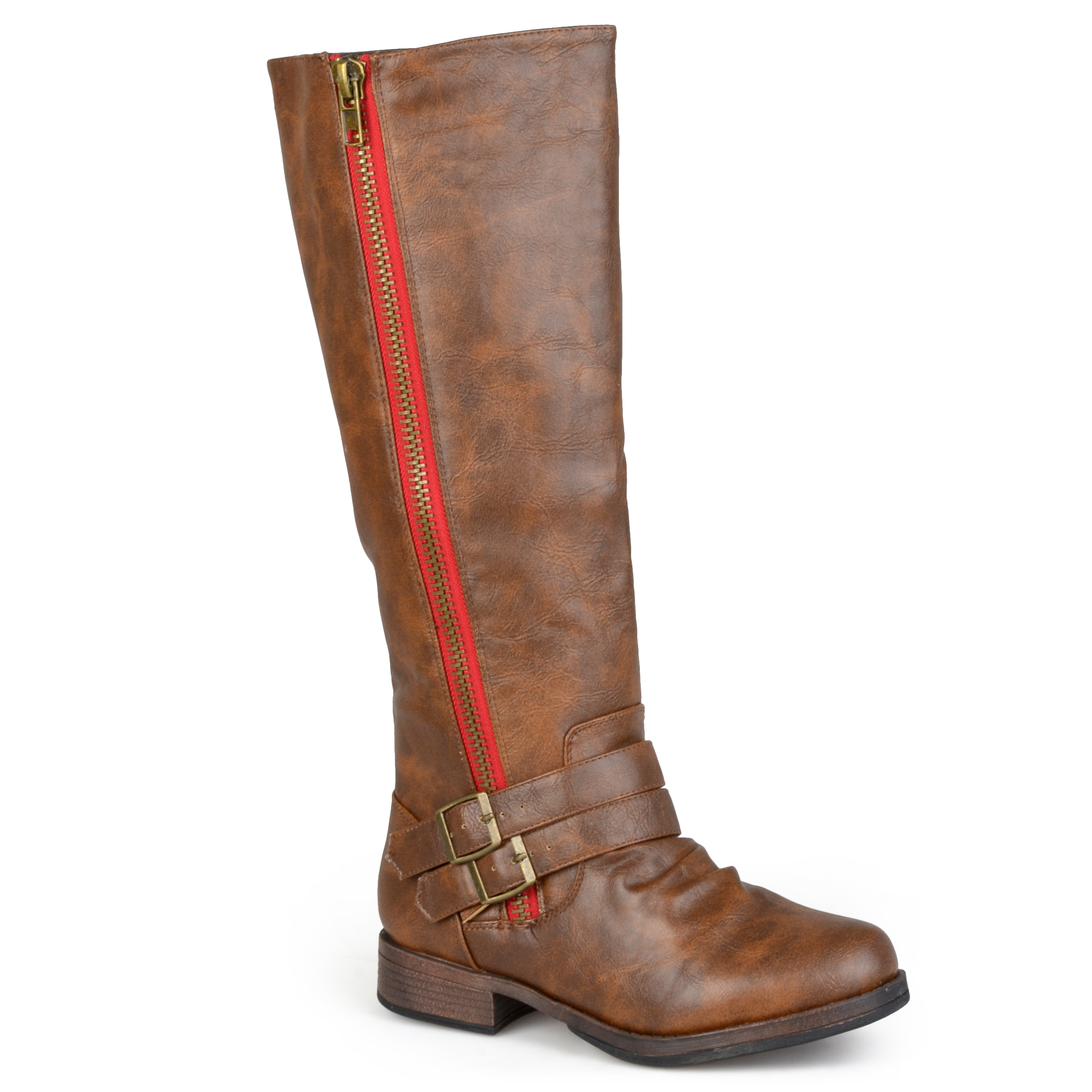 Journee Collection Women S Tall Buckle Detail Boot Ebay