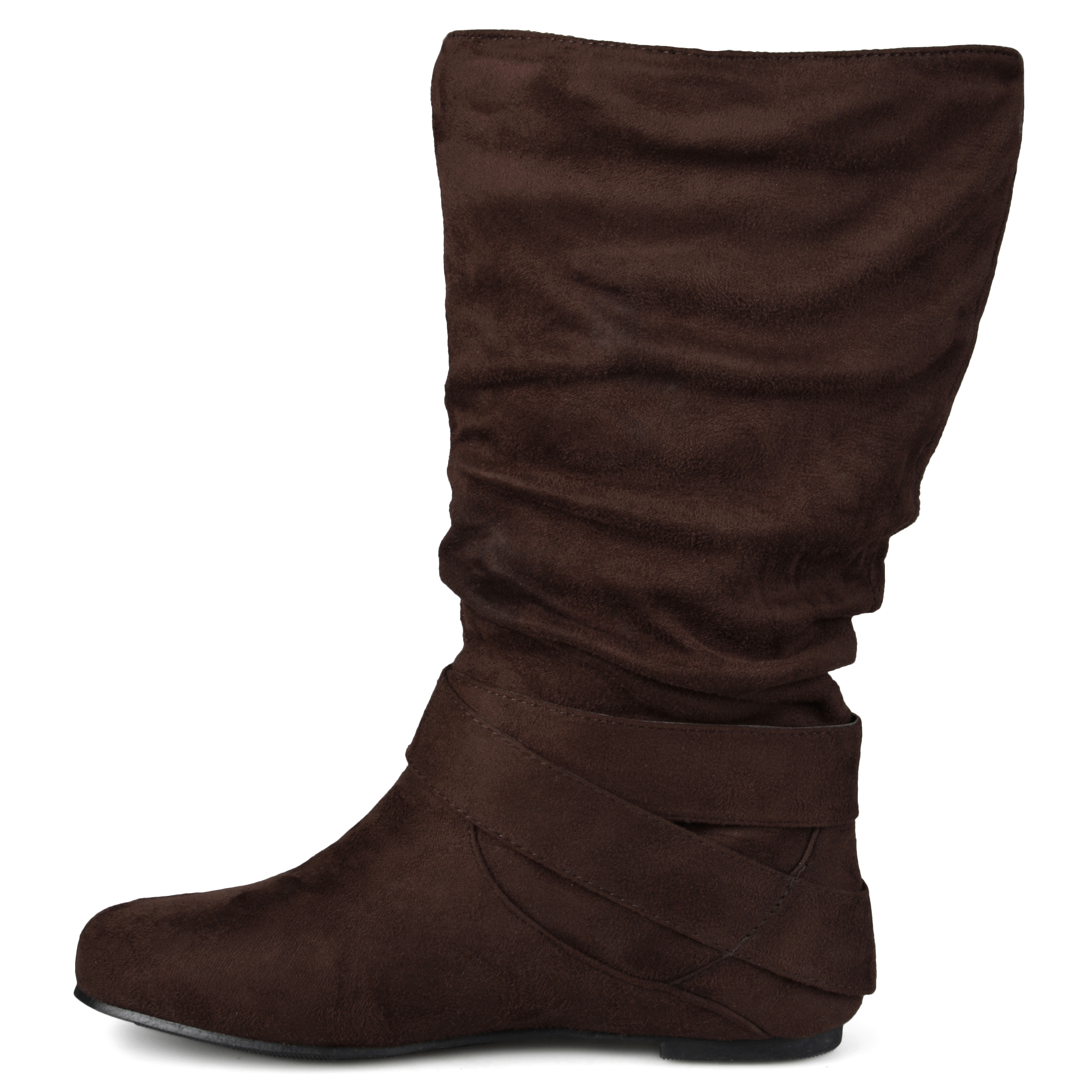 Journee Collection Womens Wide-Calf Buckle Slouch Mid-Calf ...