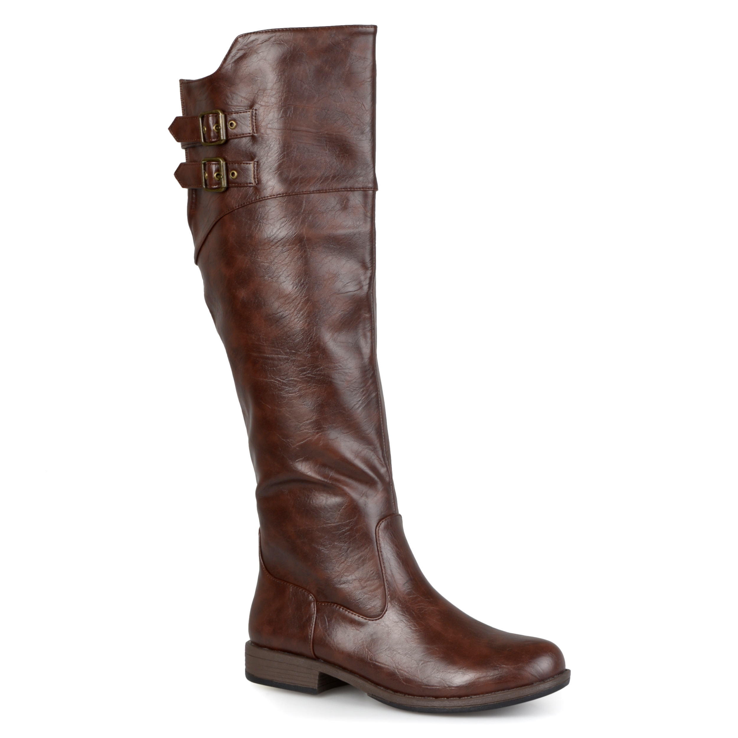 Journee Collection Womens Round Toe Buckle Detail Boots at Sears.com