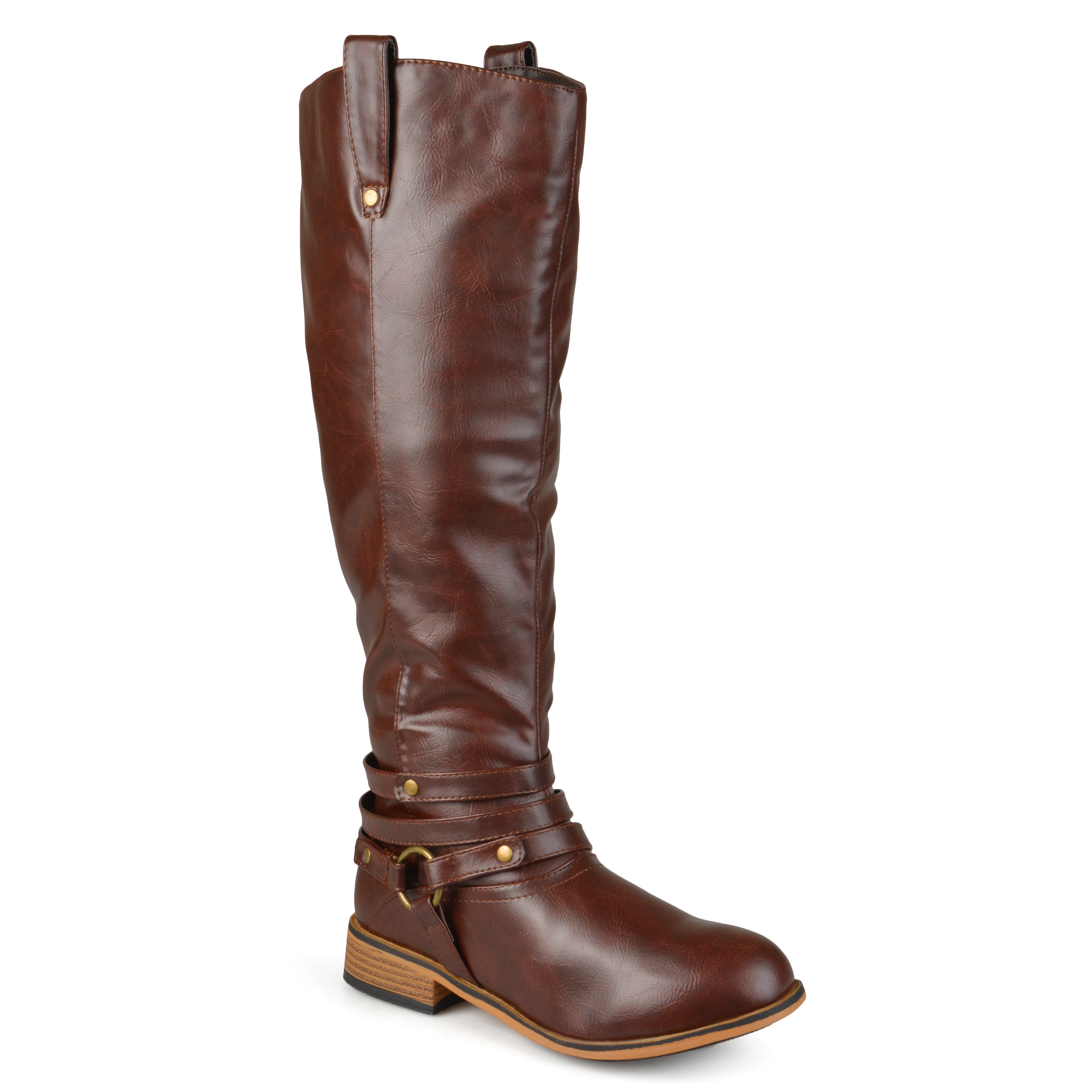 Journee Collection Womens Wide Calf Riding Boots | eBay