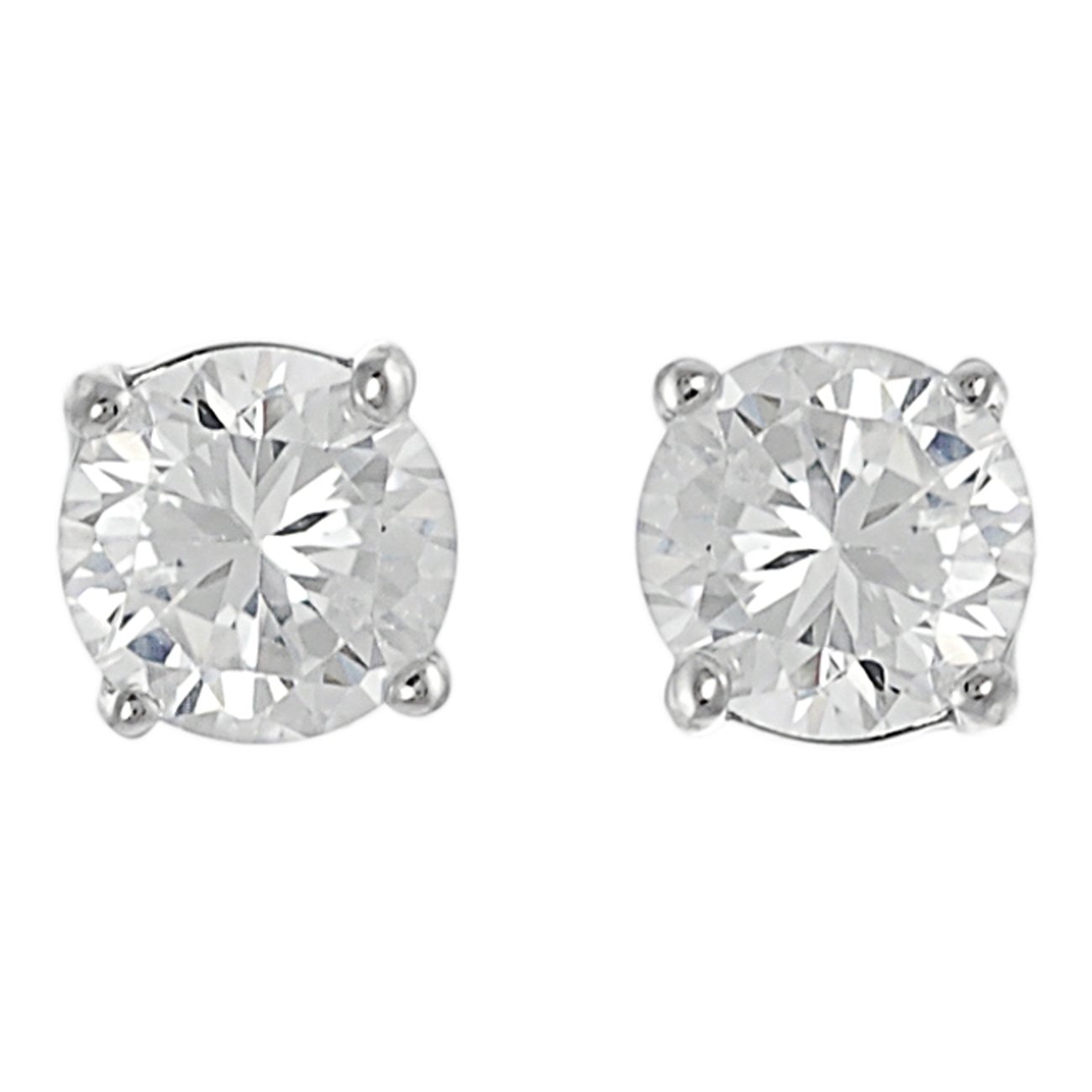 SilverBin Sterling Silver 6-mm Round-cut Cubic Zirconia Stud Earrings at Sears.com