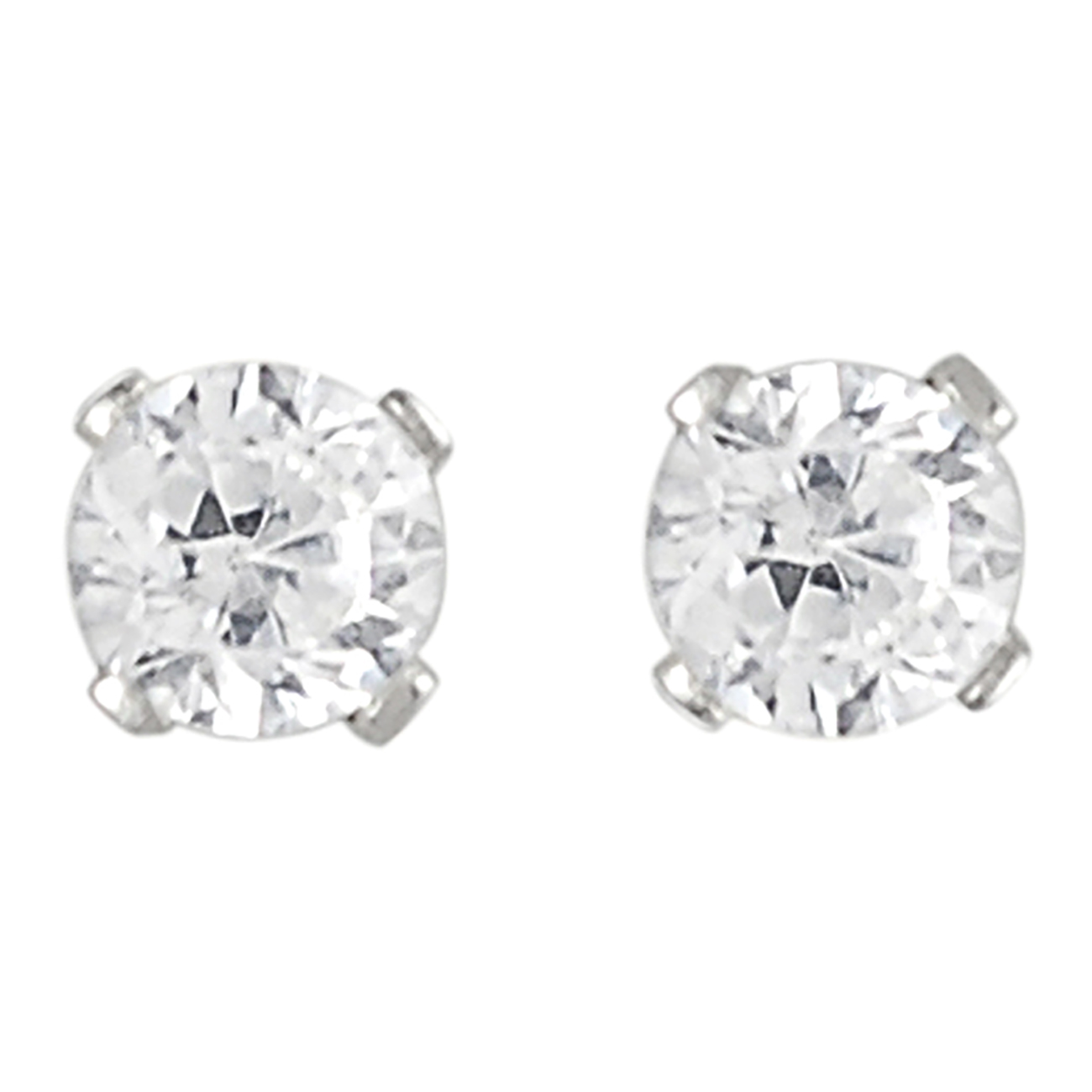 SilverBin Sterling Silver Round-cut Cubic Zirconia Stud Earrings at Sears.com