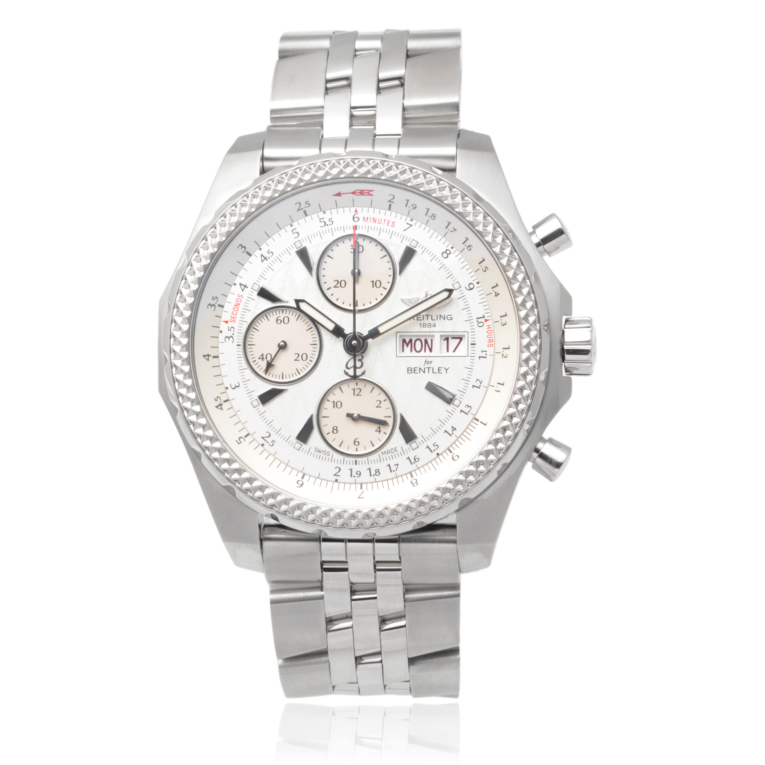 Breitling Mens Stainless Steel Bentley GT Chronograph Watch