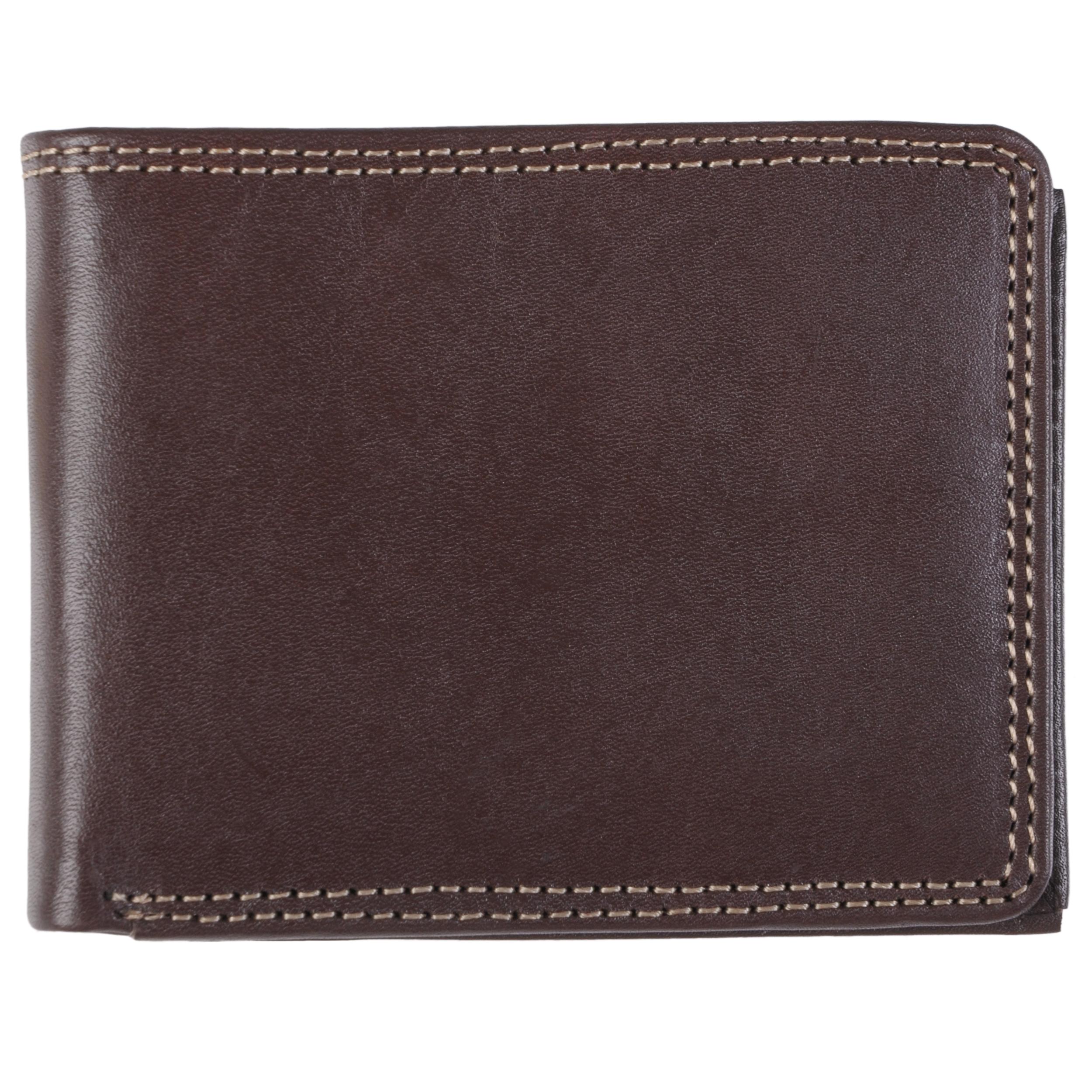 Daxx Daxx Mens Topstitched Bi-fold Genuine Leather Wallet